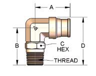"10X 1//4/"" OD Tube X 1//8/"" NPT Pneumatic 90 Deg Elbow Push To Connect Air Fitting"